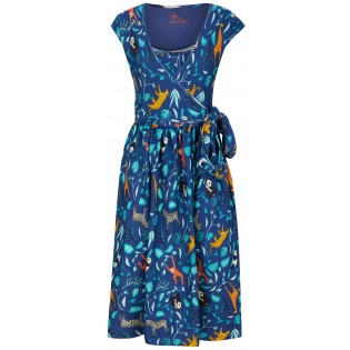 Women's Wrap Dress - Wildlife