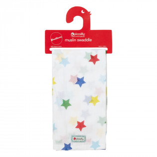Muslin Swaddle - Rainbow Star