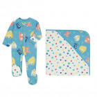Orangutan Sleepsuit & Baby Blanket Set